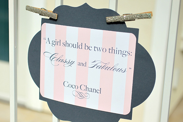 love this coco chanel inspired baby shower how adorable