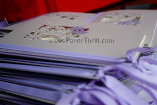 Lace paper flower wedding stationaries