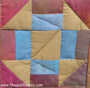 Free Churn Dash Quilt Pattern Block