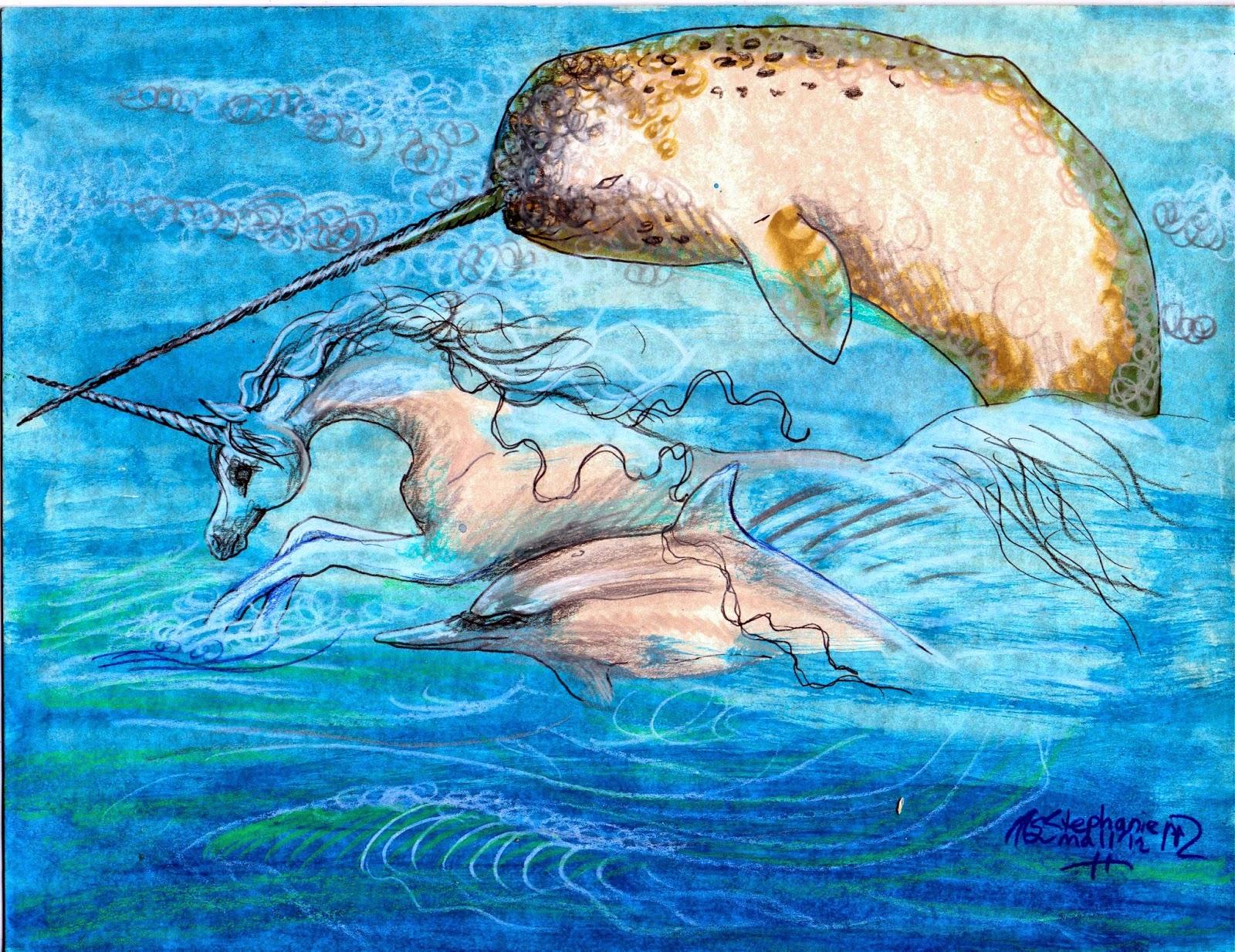 Dolphin With Horn Sacred Unicorn: Januar...