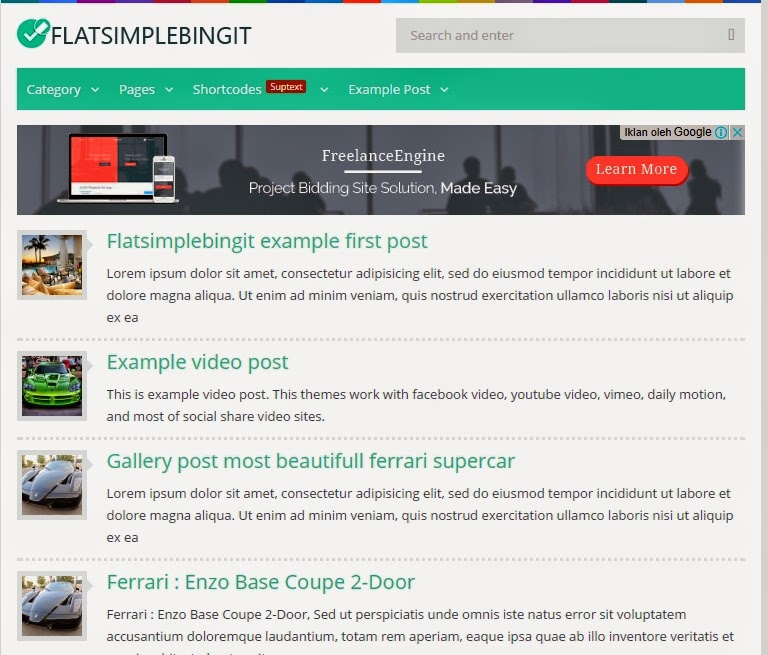 Download Theme Premium Wordpress Fast Load Untuk Adsense High CTR