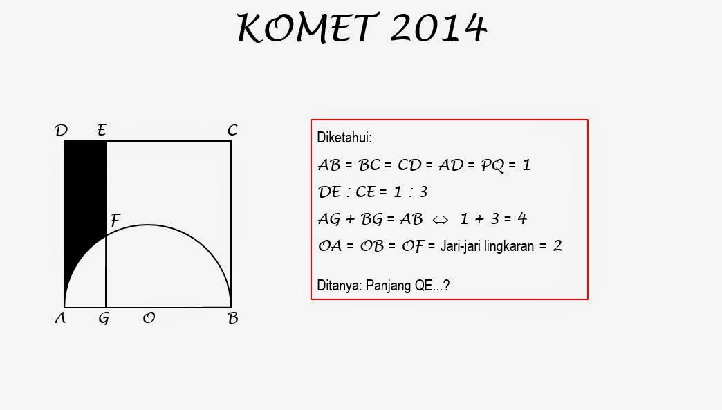 Final Utama Komet 2014 Solusi Nomor Soal 4 Smp Negeri 1 Situbondo