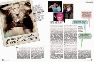 Recent Photojournalism by Nick van der Leek: Reeva, in her own words [May 2014 Marie Claire p94-97]