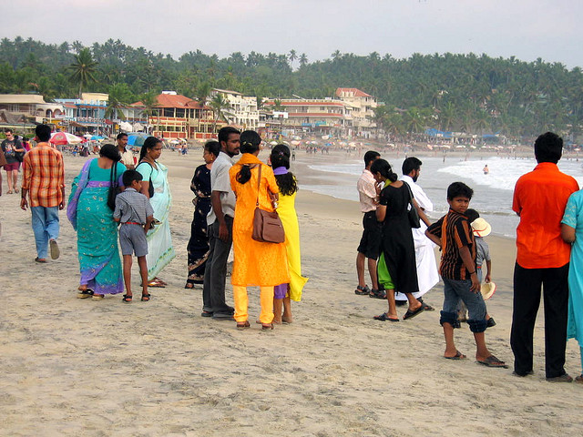 Tourist in kovalam