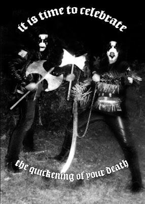 BlackMetalCard lucid dementia black metal heavy metal alternative greeting cards