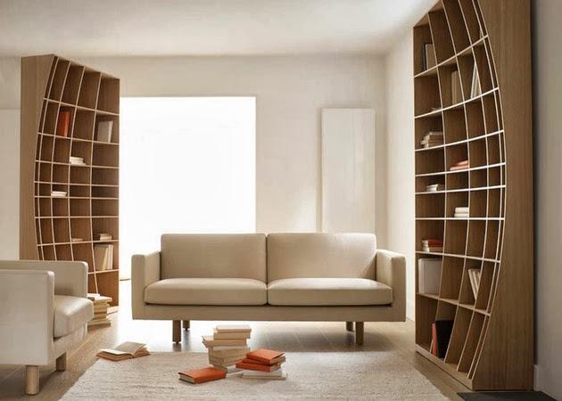 Desain Rak Buku Artistik Kreatif & Desain Rak Buku Artistik Kreatif | Desain Rumah Modern Minimalis