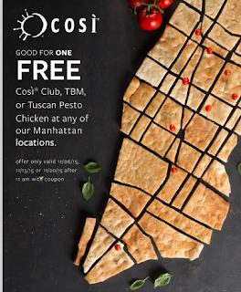 Cosi Free Sandwich
