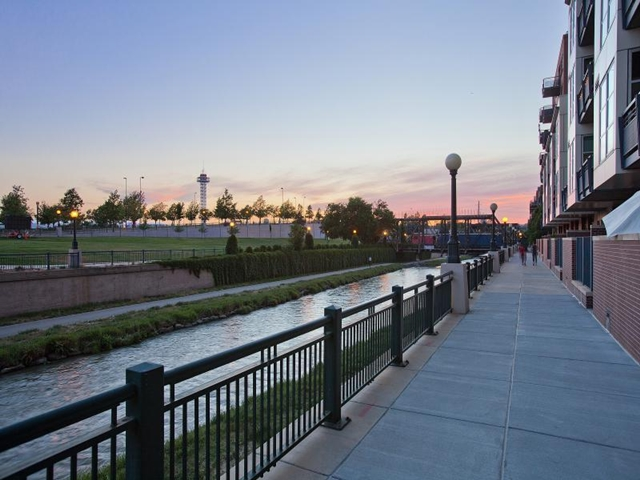 Pedestrian walkway by the river