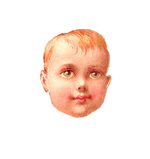 Antique Images: Free Baby Clip Art: 1879, Victorian Scrap of Baby Boy