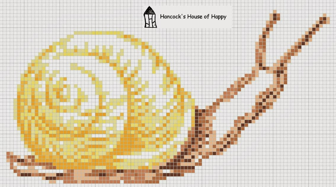 A Big Frikkin' Snail Cross Stitch Chart!