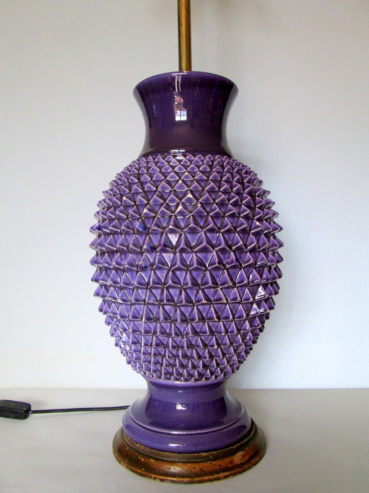 Vintage kitsch siglo xx lampara de cer mica de manises for Lamparas de ceramica