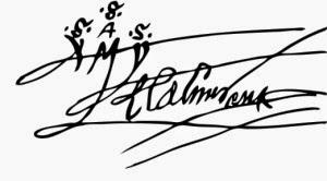 Signatura Cristòfor Colom - 1