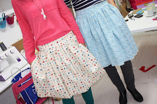Taller de one day skirt en sweet sixteen craft store