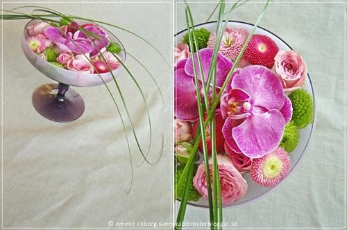 blomster cocktail, svenska blomsterbloggar, emelie ekborg, skapa av restblommor