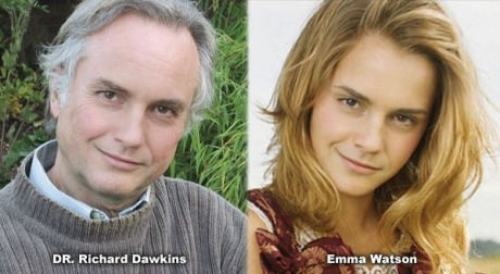 Richard Dawkins or Emma Watson funny picture