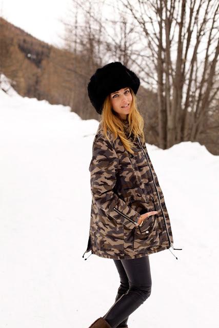 blonde salad kamuflaj desenli palto