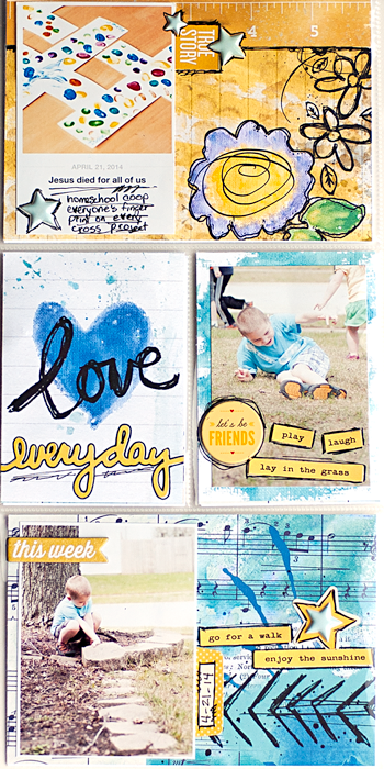 Heather Greenwood | Project Life Week 17 | hybrid scrapbook insert