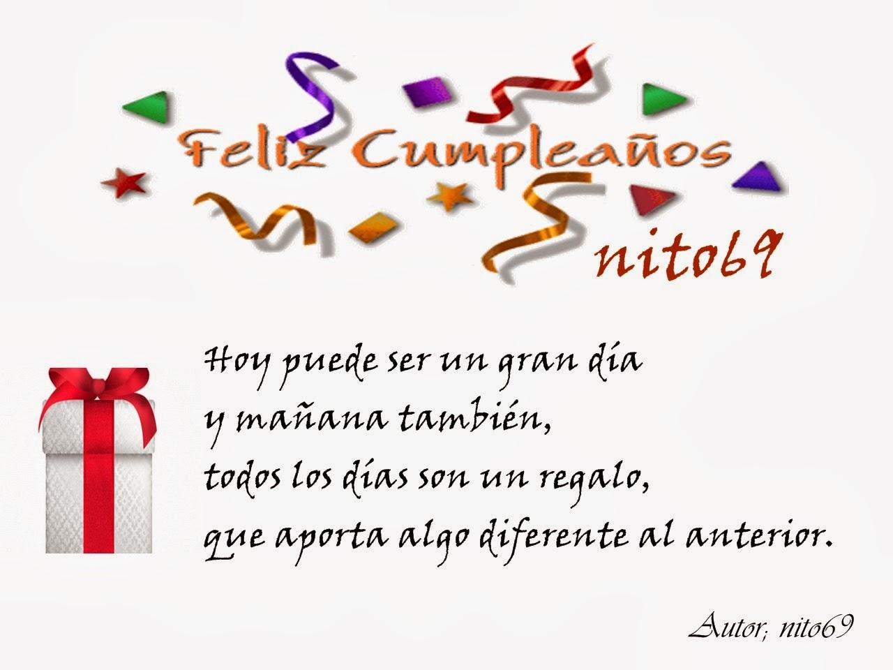 FELIZ CUMPLEAÑOS nito69  ( Reflexión )
