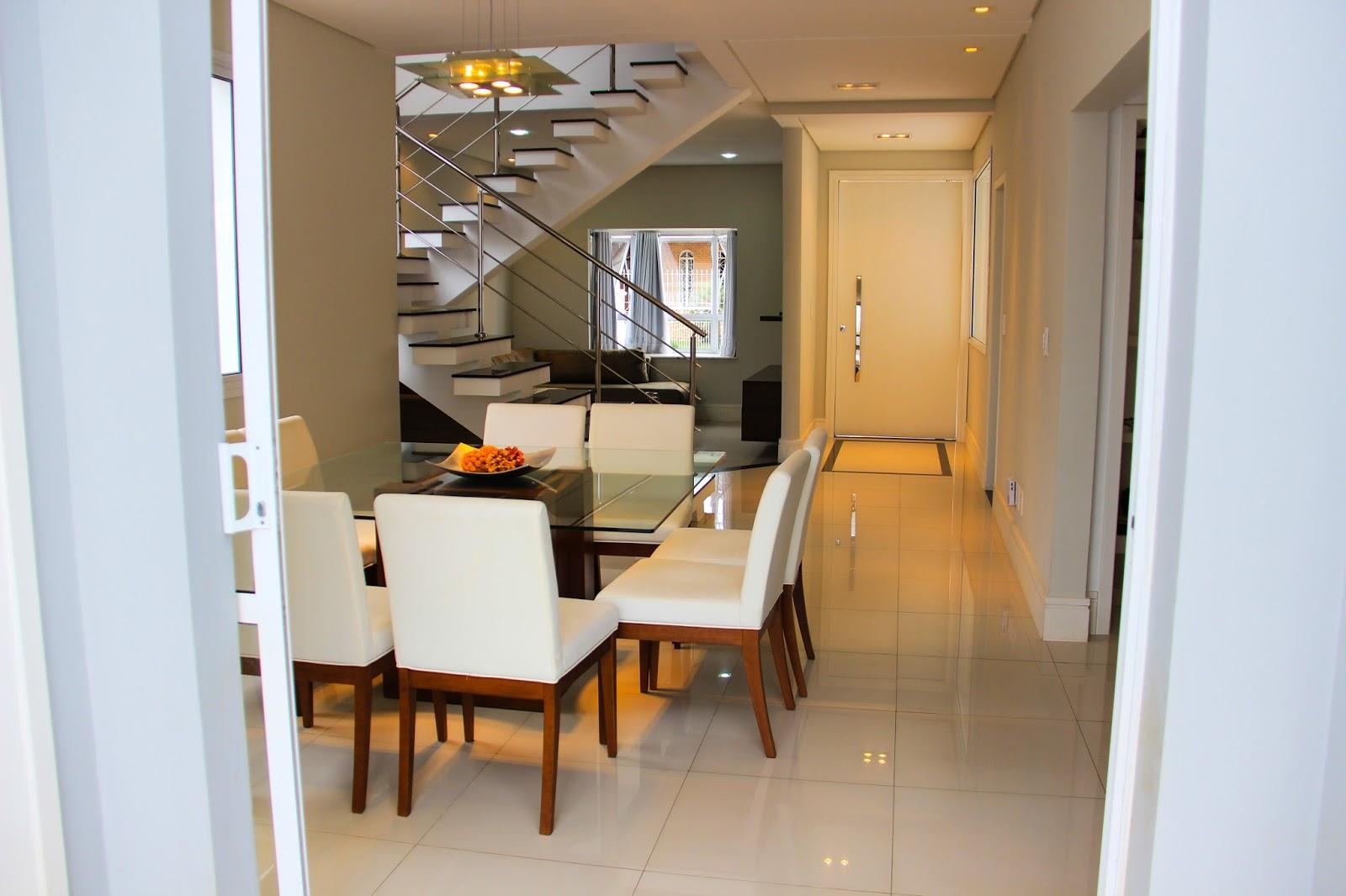 Fotos De Escadas Na Sala De Jantar ~ Meyre Kajita Residência no Condomínio Primvera  Taubaté  SP