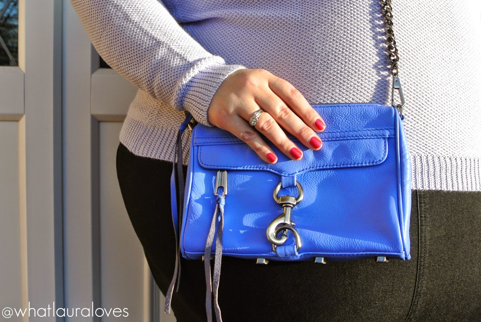 Rebecca Minkoff Mini Mac Bag in Twilight with Gunmetal Hardware