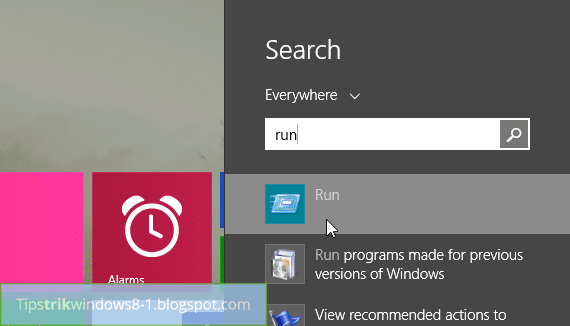 Cara Reset Tampilan Start Screen di Windows 8.1