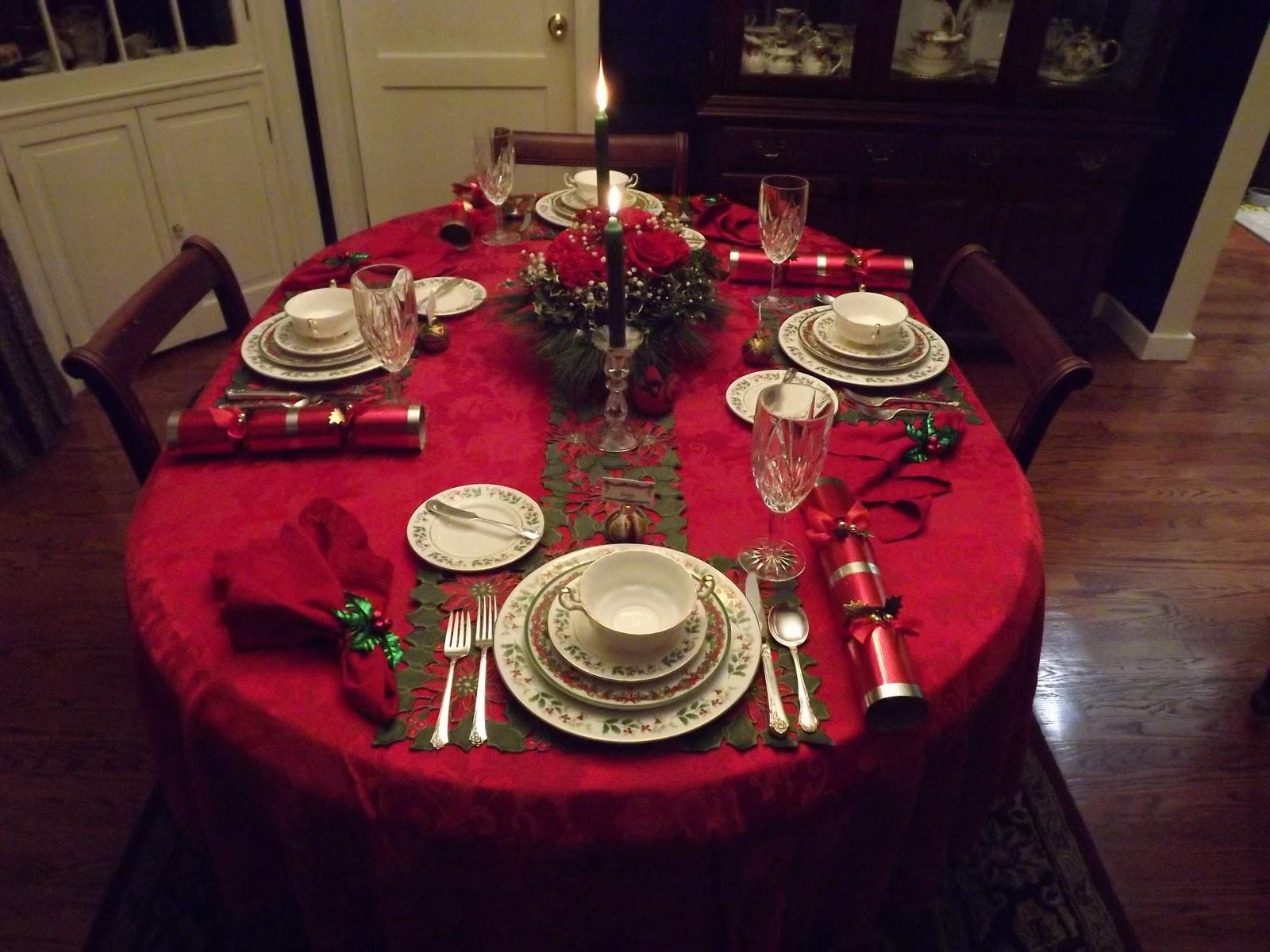 Tess 39 S Teacups Tabbies Christmas Eve Table