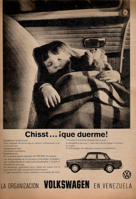 Publicidad antigua del vehículo Volkswagen
