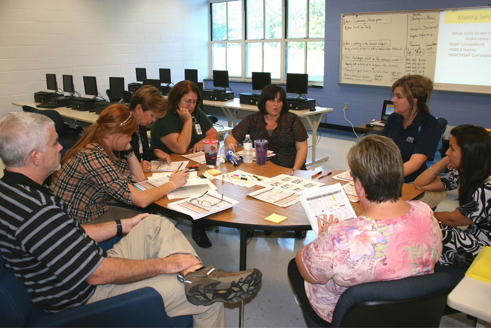 Collaborative Teaching High School : The ging blue jacket ahs teachers collaborate for