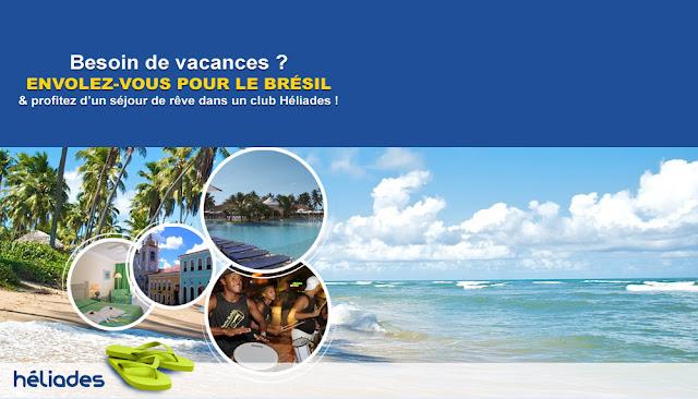 Voyages au Brésil pour 2 personnes à gagner