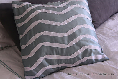 chevron ribbon pillow