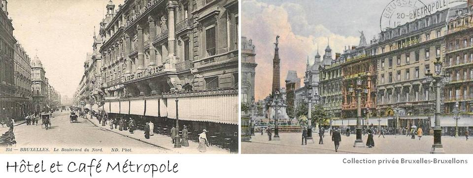 Place de Brouckère - Café & Hôtel Métropole - Bruxelles-Bruxellons