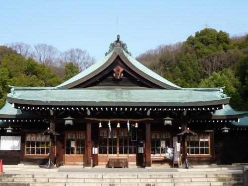 岡山縣護國神社拝殿