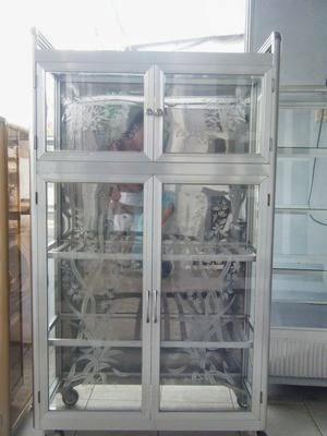 tủ chén nhôm kính 2