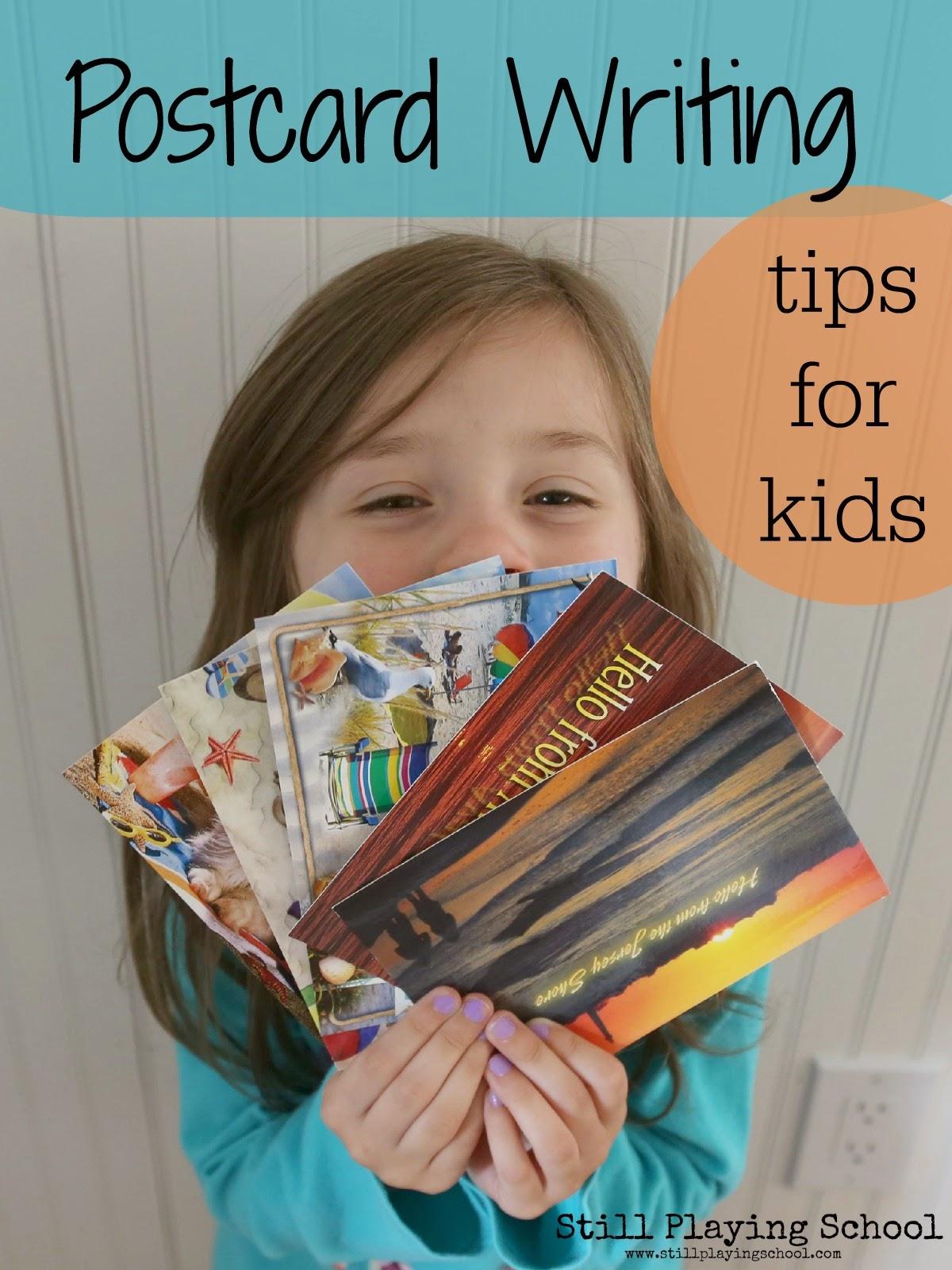 Postcards for Kids | Still Playing School