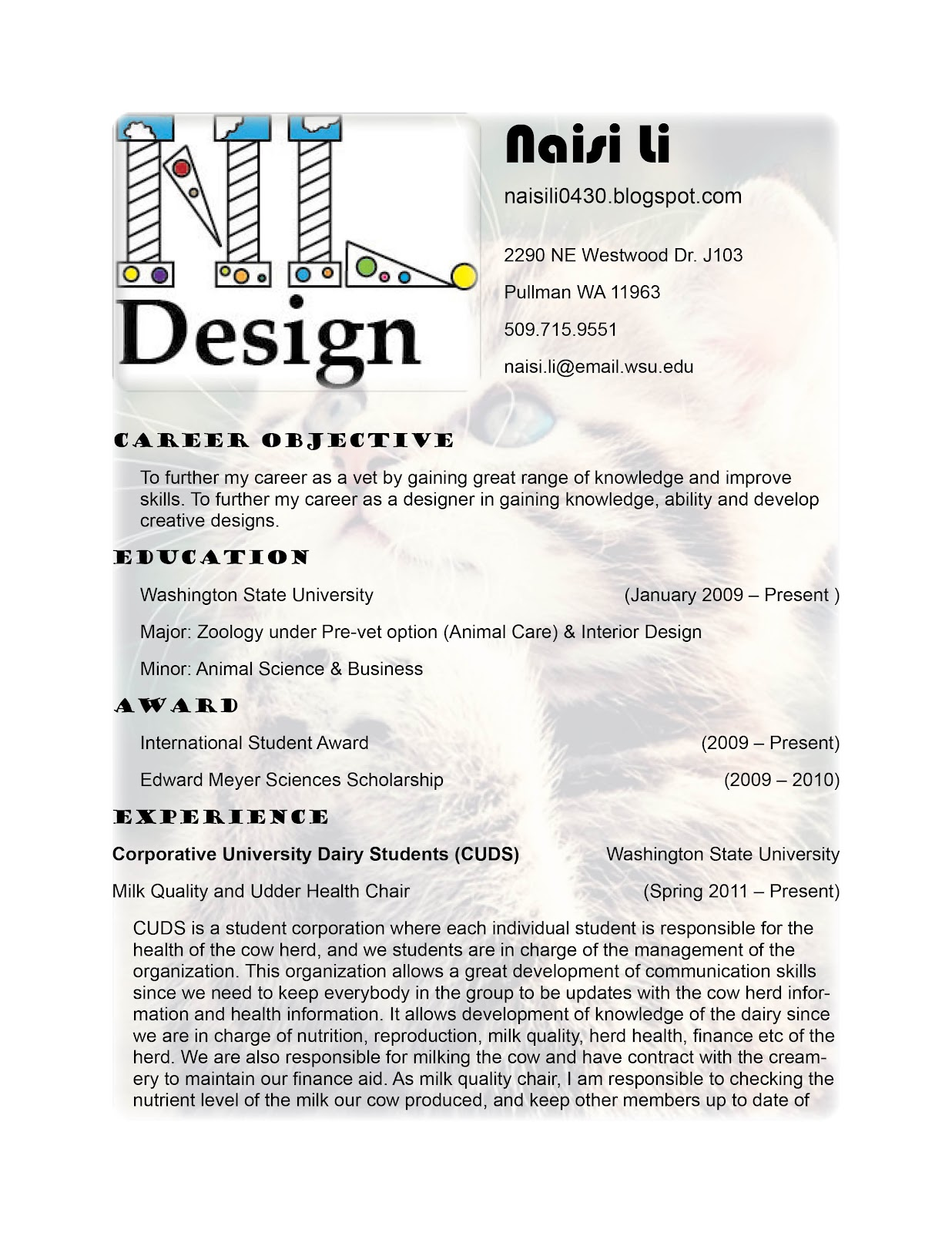 resume design sample designer cv template interior designer