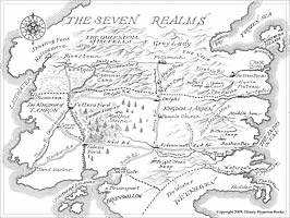 The Seven Realms map from The Demon King by China Williams Chima