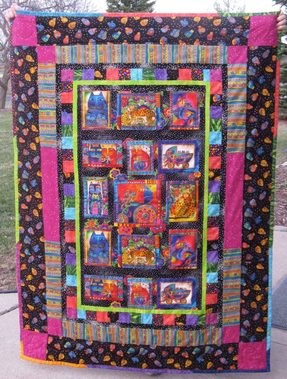 Laurel Burch Quilt for a friend