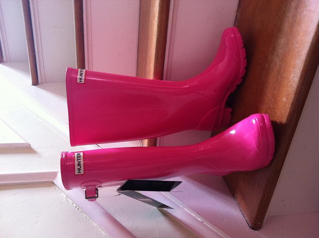 Hunter Rain Boots Pink3