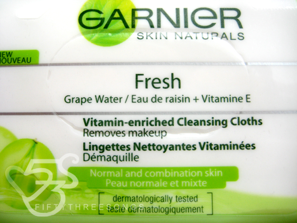 Garnier Clean and Fresh Complete Vitamin Enriched Cleansing Wipes Review