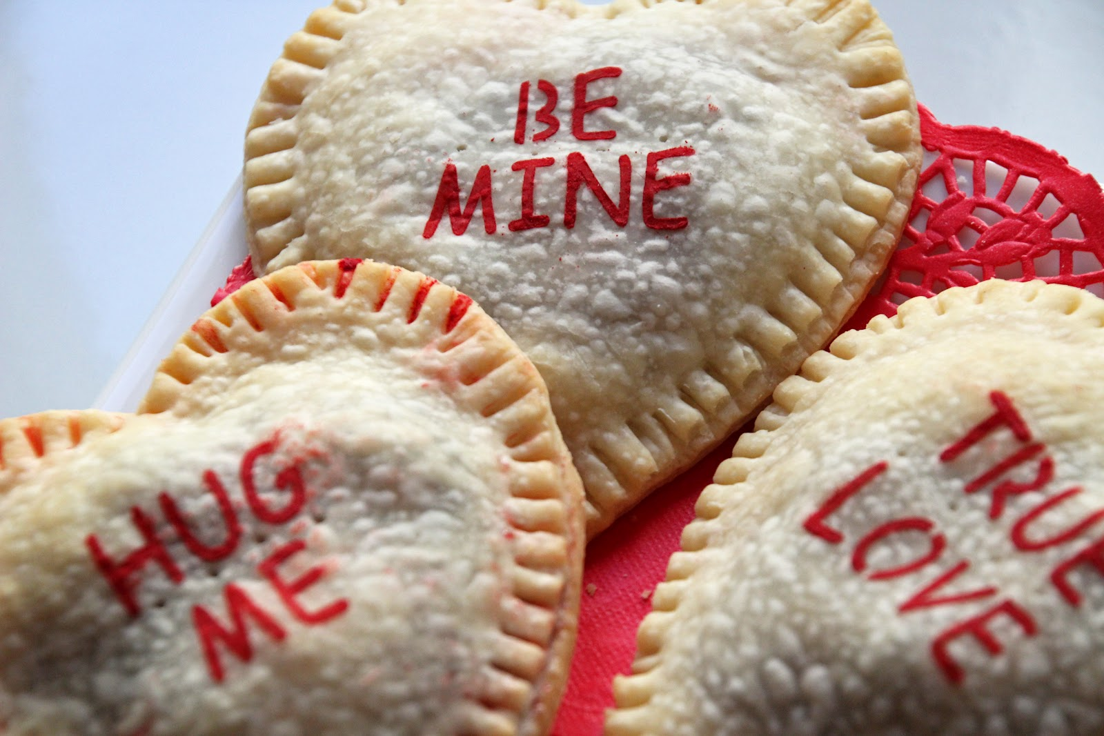 "Life Is Sweets: ""Conversation Hearts"" Cherry Pies with Homemade Che..."