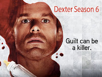 Dexter Season 6 Poster: Dexter's face surrounded by blood and milk
