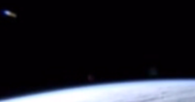 Blue UFO Captured on Video From The International Space Station