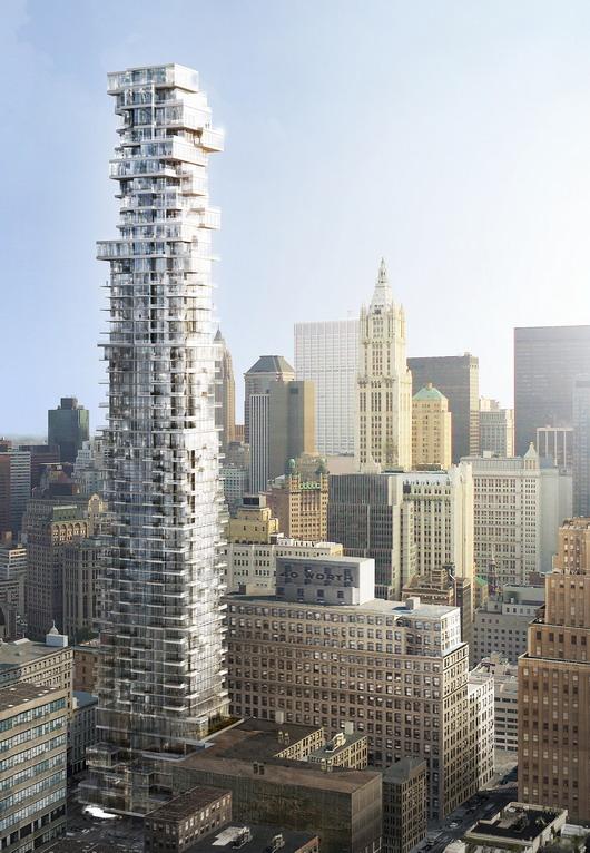 Photo of 56 Leonard Street Skyscraper with Lower Manhattan Skyline in the background