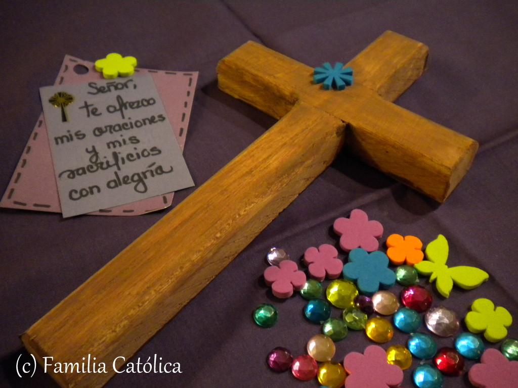 Familia Católica: Decora una cruz durante Cuaresma