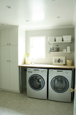 wrapped in raffia washer and dryer countertop. Black Bedroom Furniture Sets. Home Design Ideas