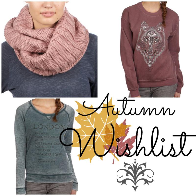 Herbstmode-Wunschliste