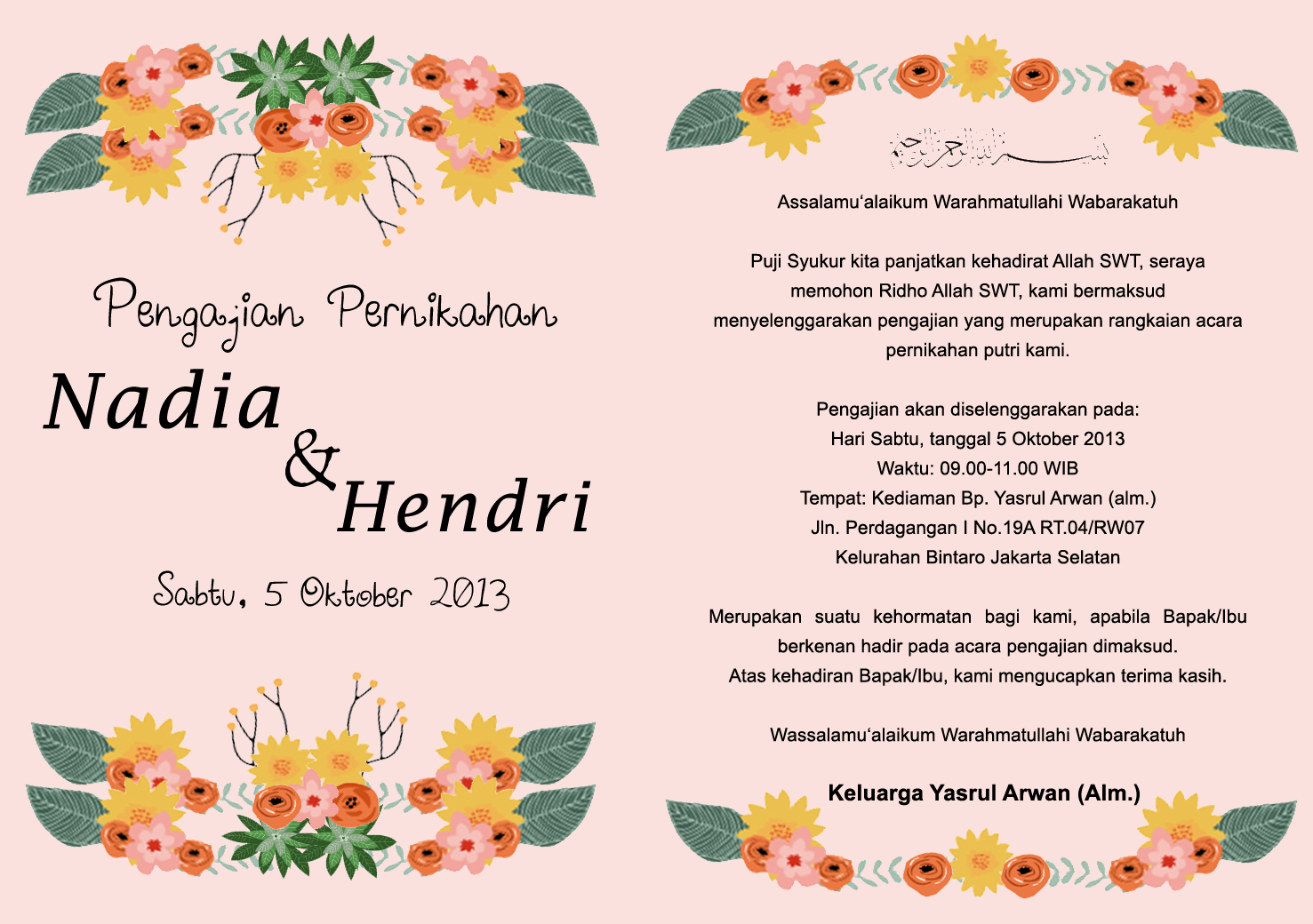 The Wedding of Nadia and Hendri: PENGAJIAN JELANG PERNIKAHAN