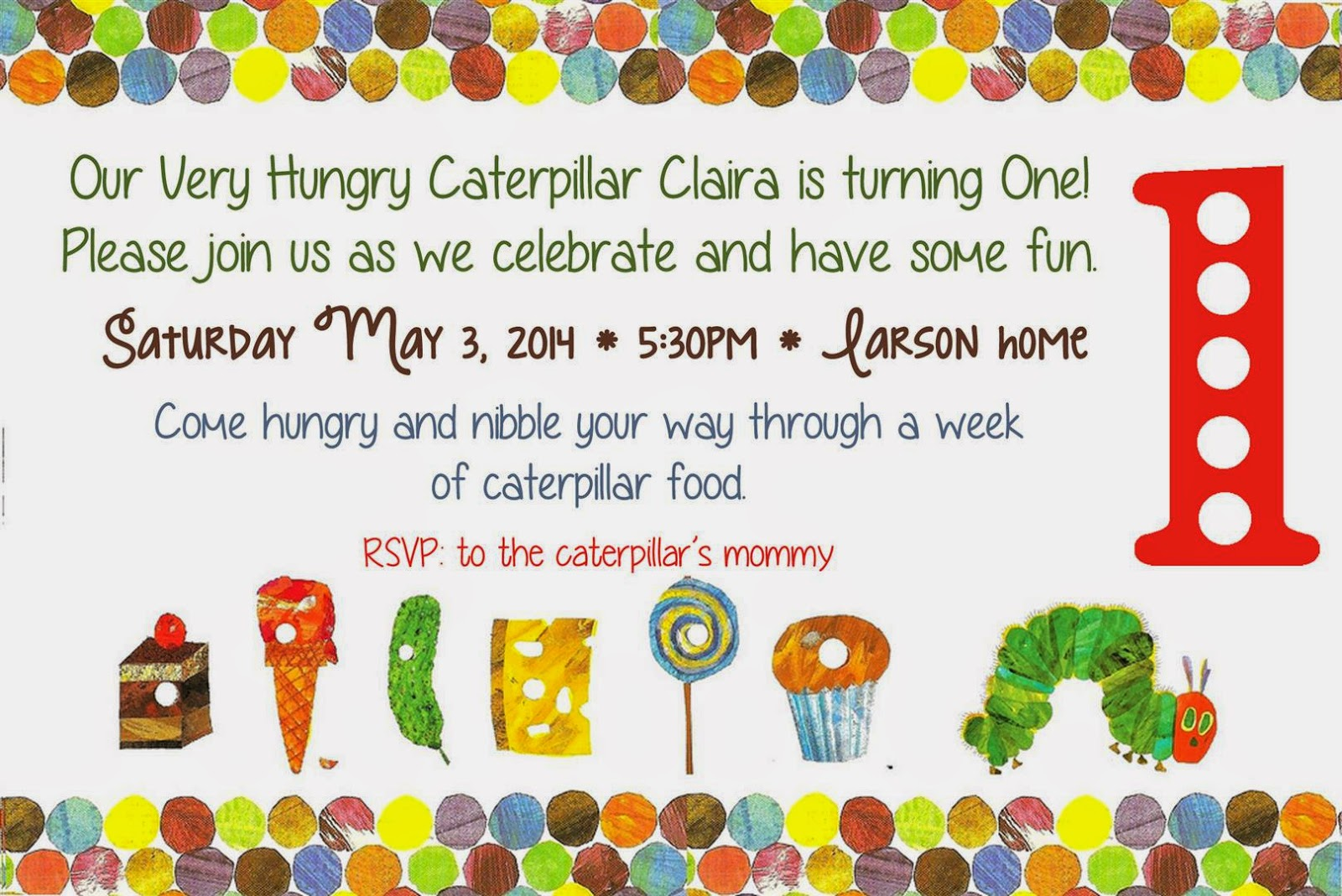 Patty Cakes Bakery: The Very Hungry Caterpillar 1st Birthday