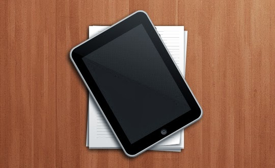 iPad and Paper Stack Icon