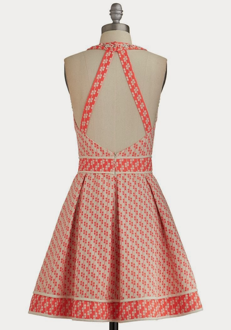 Backless Dress - Sweetest Surprise - ModCloth